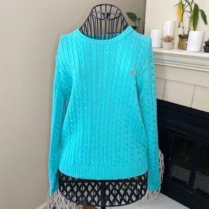 Ralph Lauren Blue Crew Neck Knit Sweater